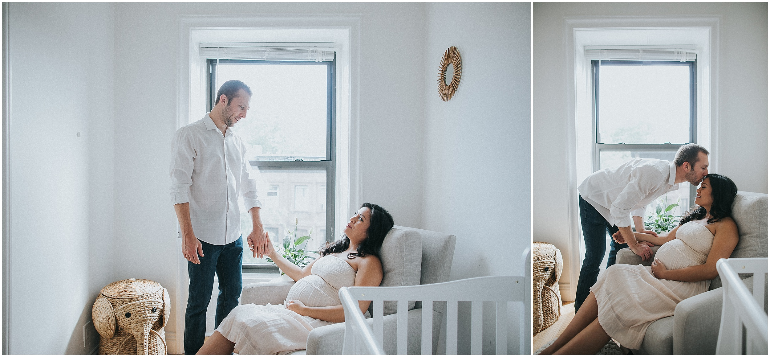 Stylish and Sweet Park Slope Lifestyle Maternity Session